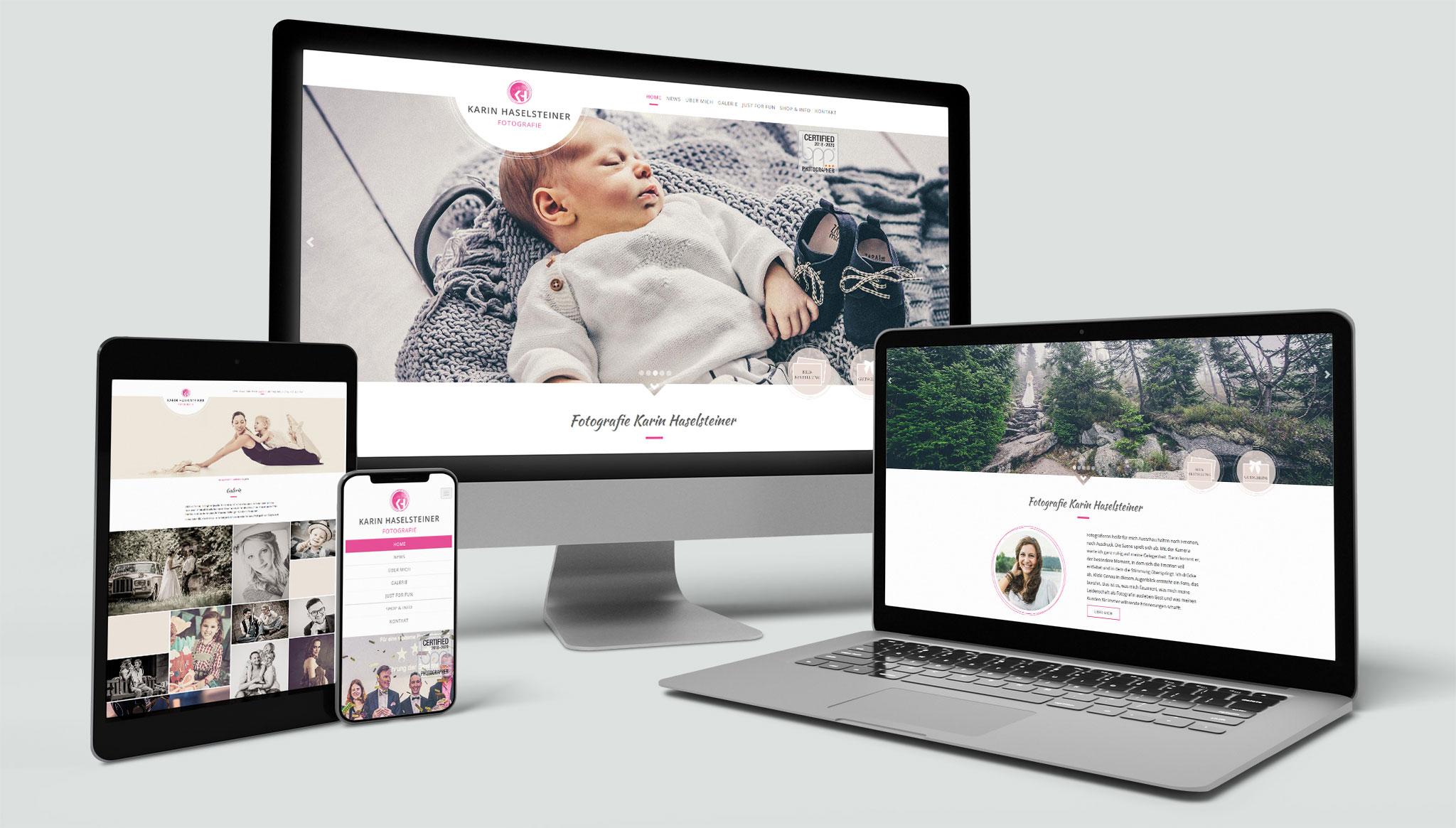 Karin Haselsteiner Website | Werbeagentur Roland C. Ritter