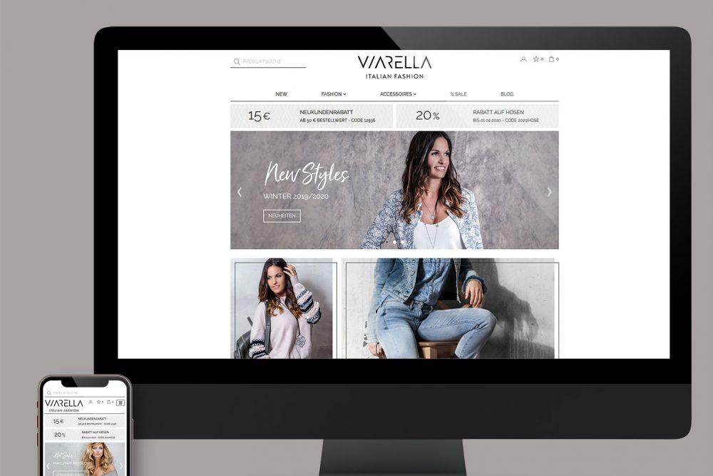 Viarella | Leistung Website und Webshop