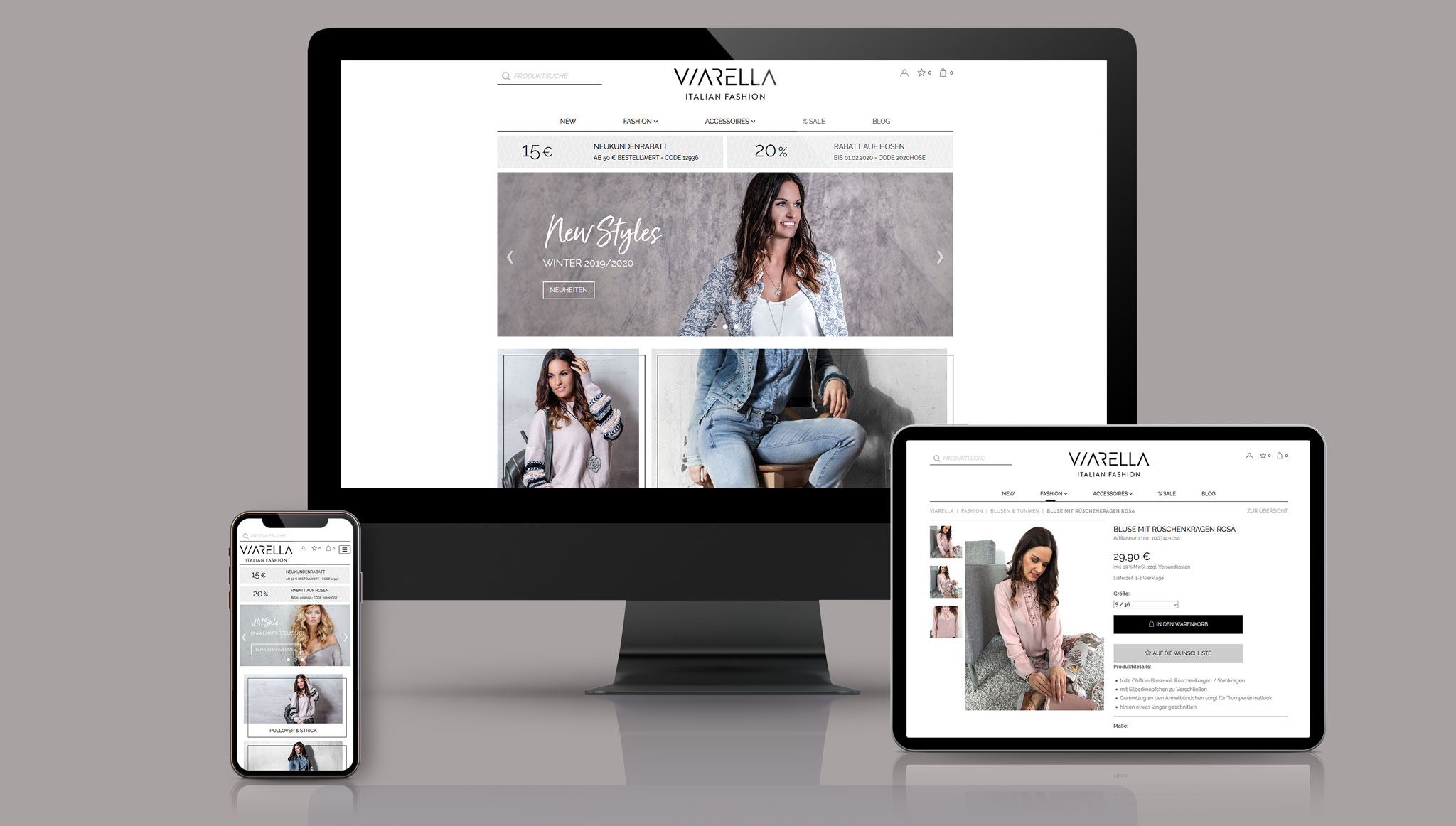 Viarella Website | Werbeagentur Roland C. Ritter