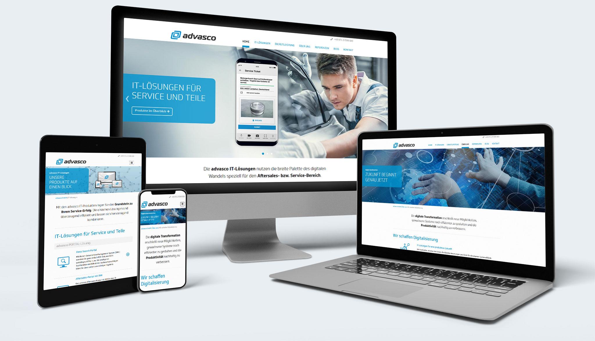 advasco Website | Werbeagentur Roland C. Ritter