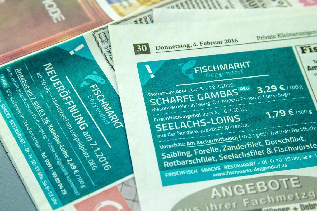 Anzeigen Fischmarkt Deggendorf | Werbeagentur Ritter