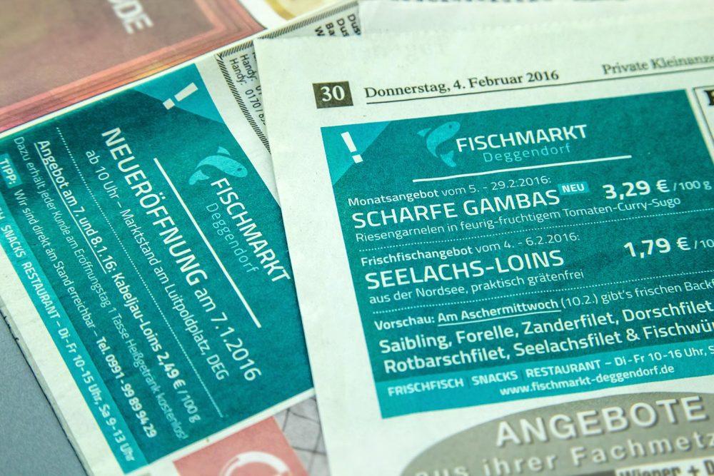 Anzeigen Fischmarkt Deggendorf | Design Roland C. Ritter