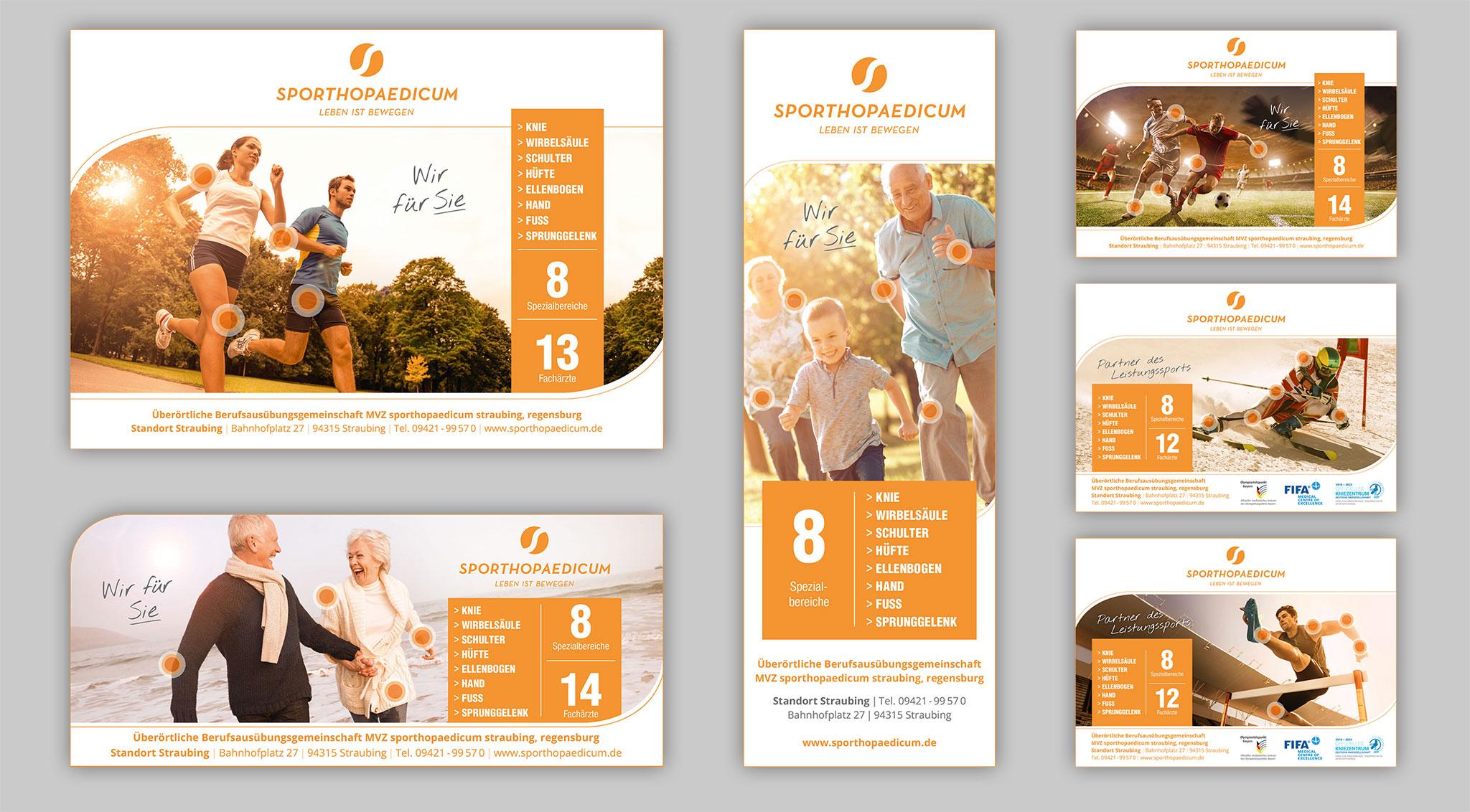 Anzeigen sporthopaedicum | Design Agentur Ritter