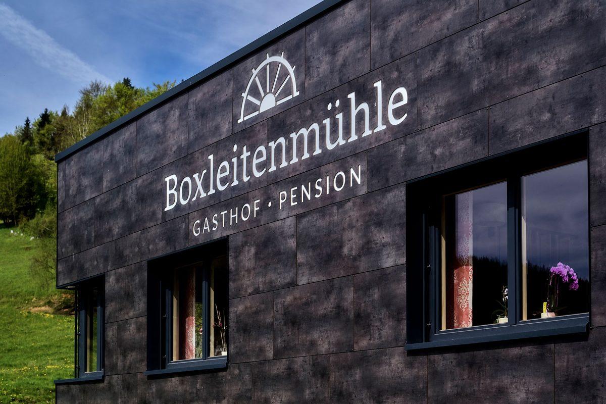 Boxleitenmühle Beschriftung | Werbeagentur Roland C. Ritter