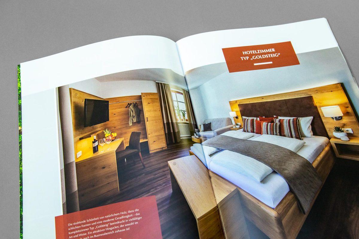 Broschüre Komplettzimmer - Waldbauer Hotel- & Gastroeinrichtungen