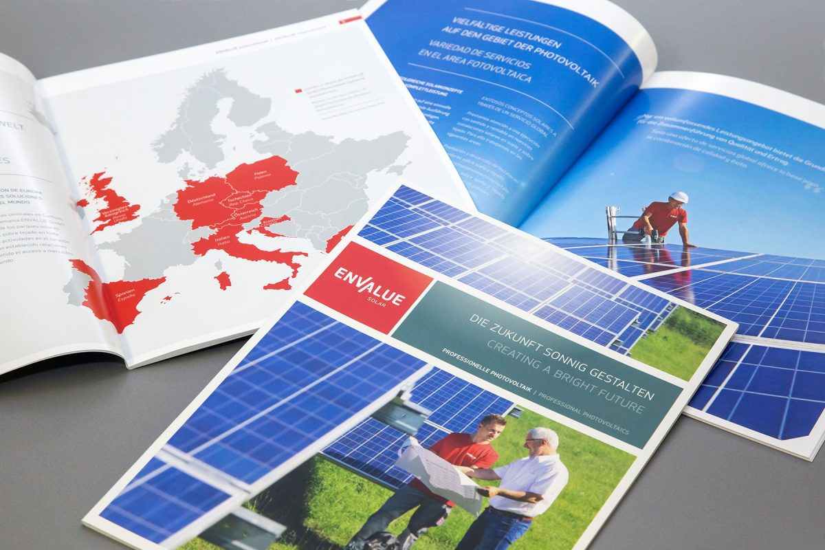 Envalue Solar Broschuere | Agentur Ritter