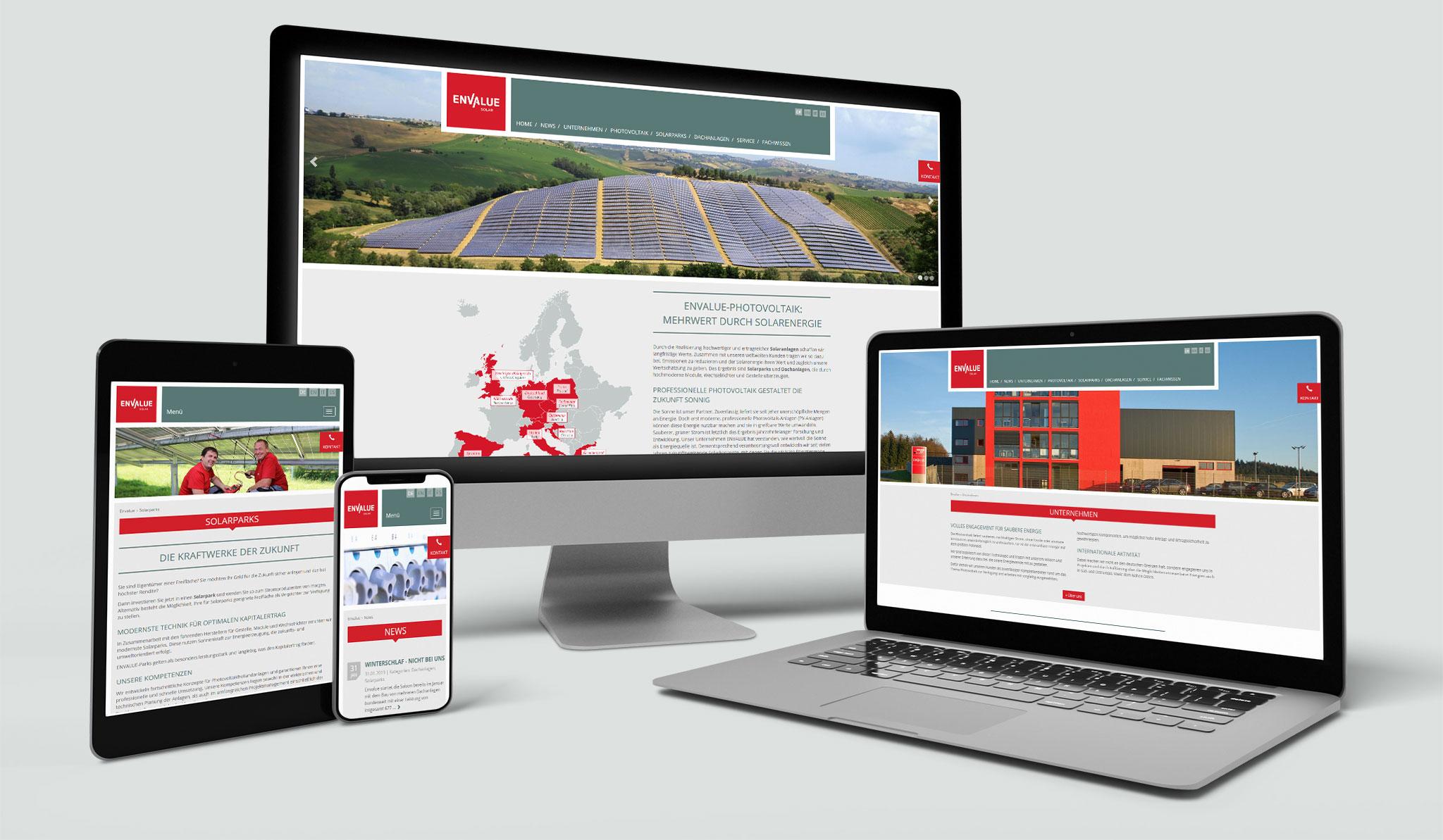 Envalue Website | Werbeagentur Roland C. Ritter