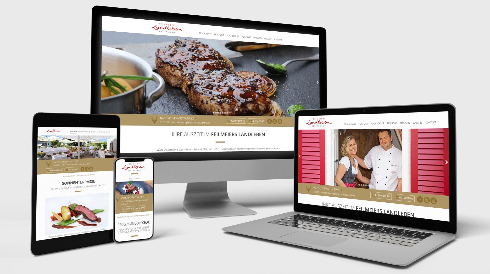 Feilmeiers Landleben Website | Werbeagentur Roland C. Ritter