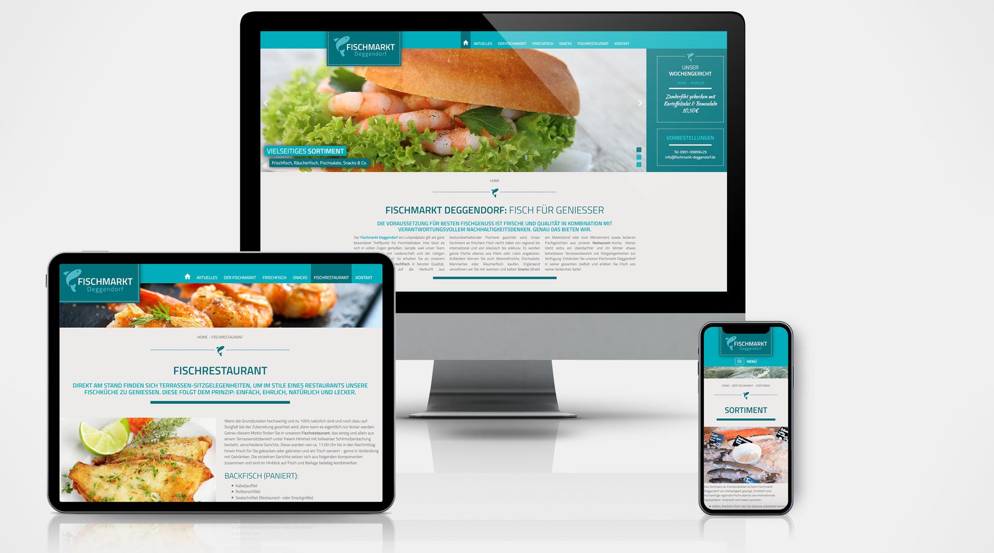 Fischmarkt Deggendorf Website | Werbeagentur Roland C. Ritter