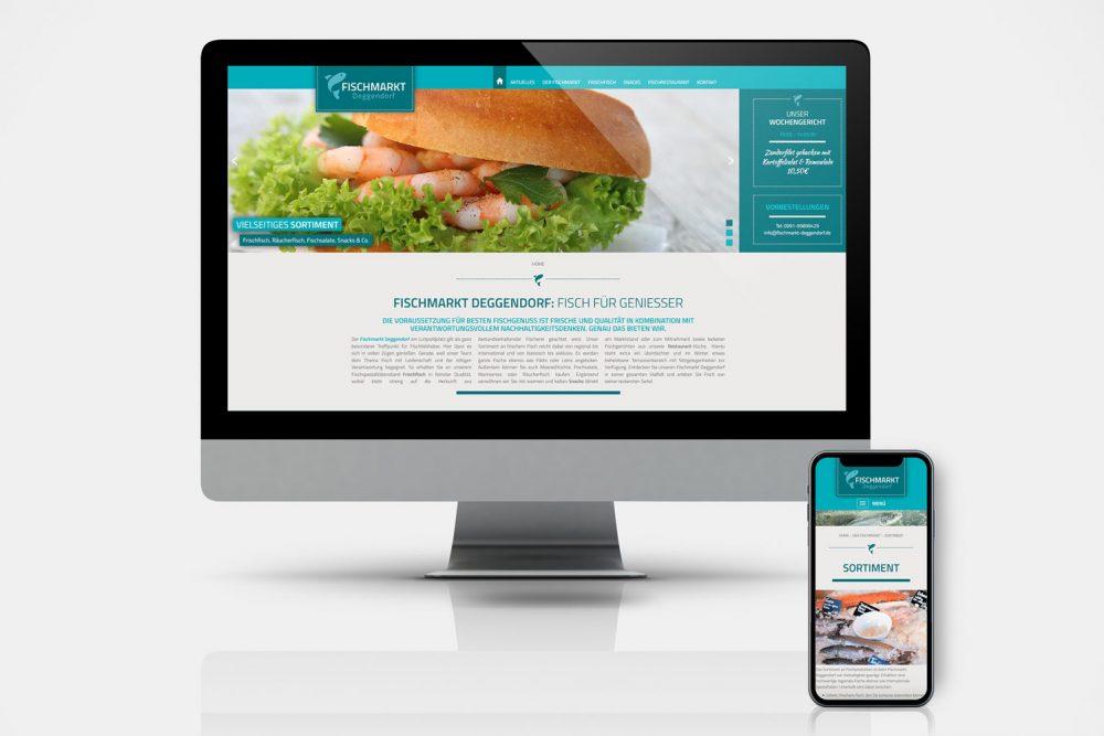 Fischmarkt Deggendorf | Leistung Website