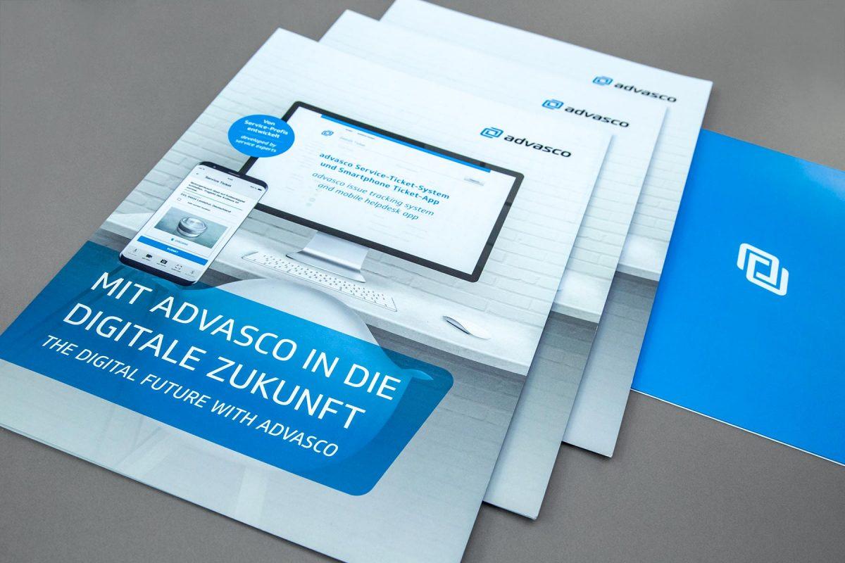 Flyer advasco GmbH | Werbeagentur Roland C. Ritter