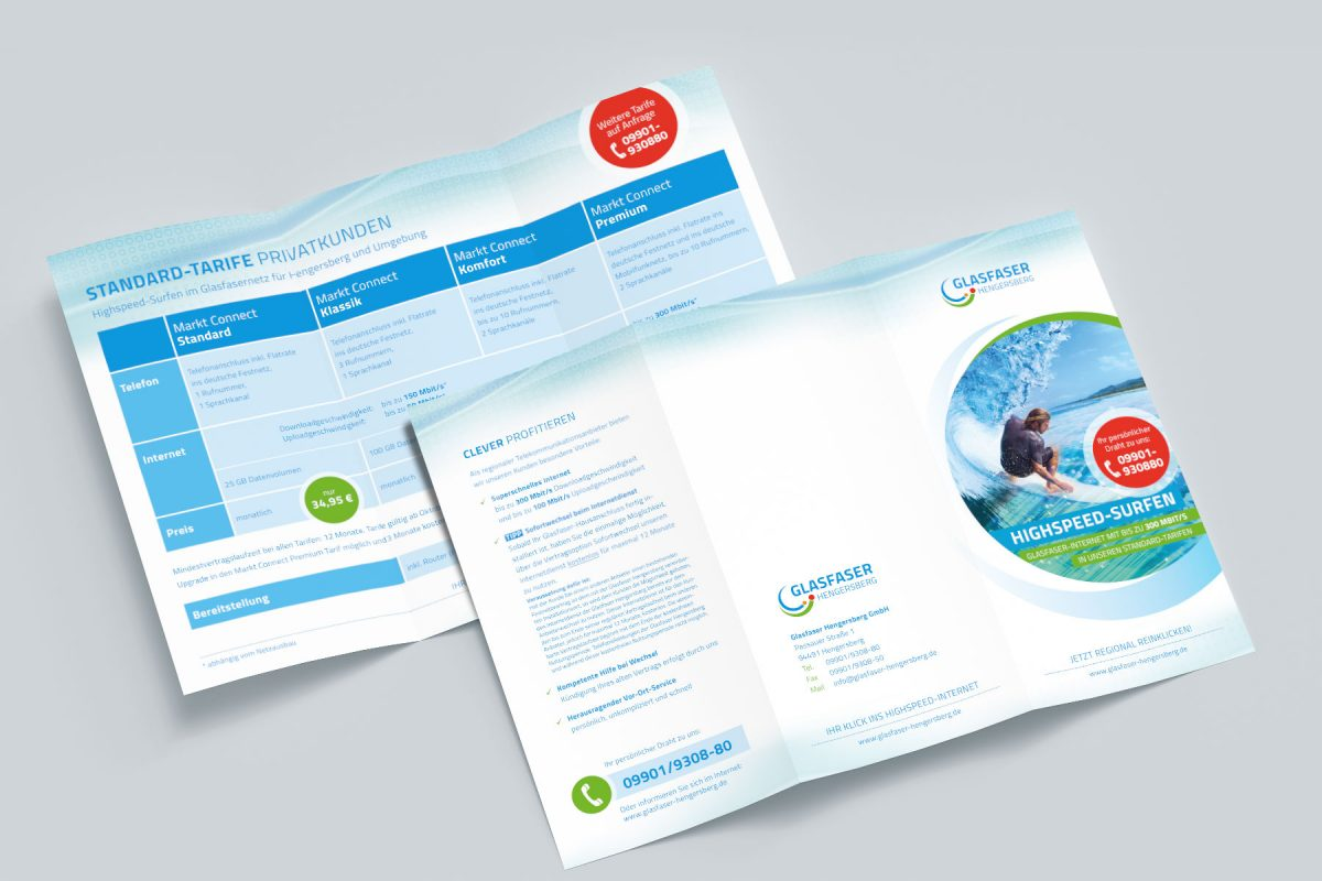 Glasfaser Hengersberg Flyer | Referenz Agentur Ritter