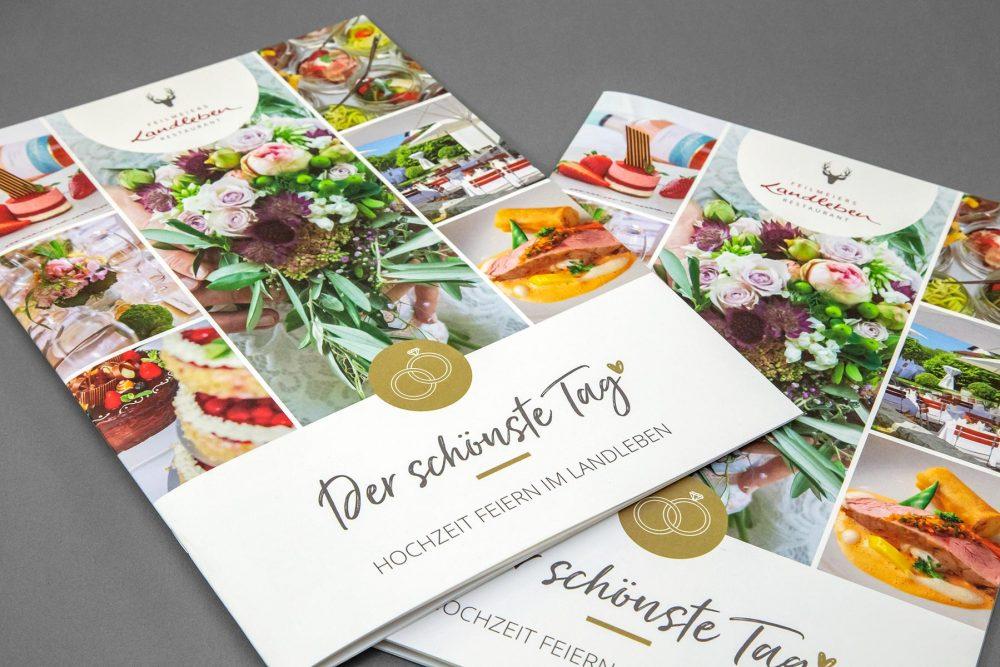 Hochzeitsmappe Feilmeiers Landleben | Werbeagentur Roland C. Ritter