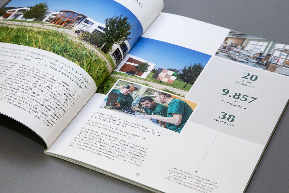 Waldbauer Jubiläumsbroschüre 20 Jahre Detail | Agentur Ritter