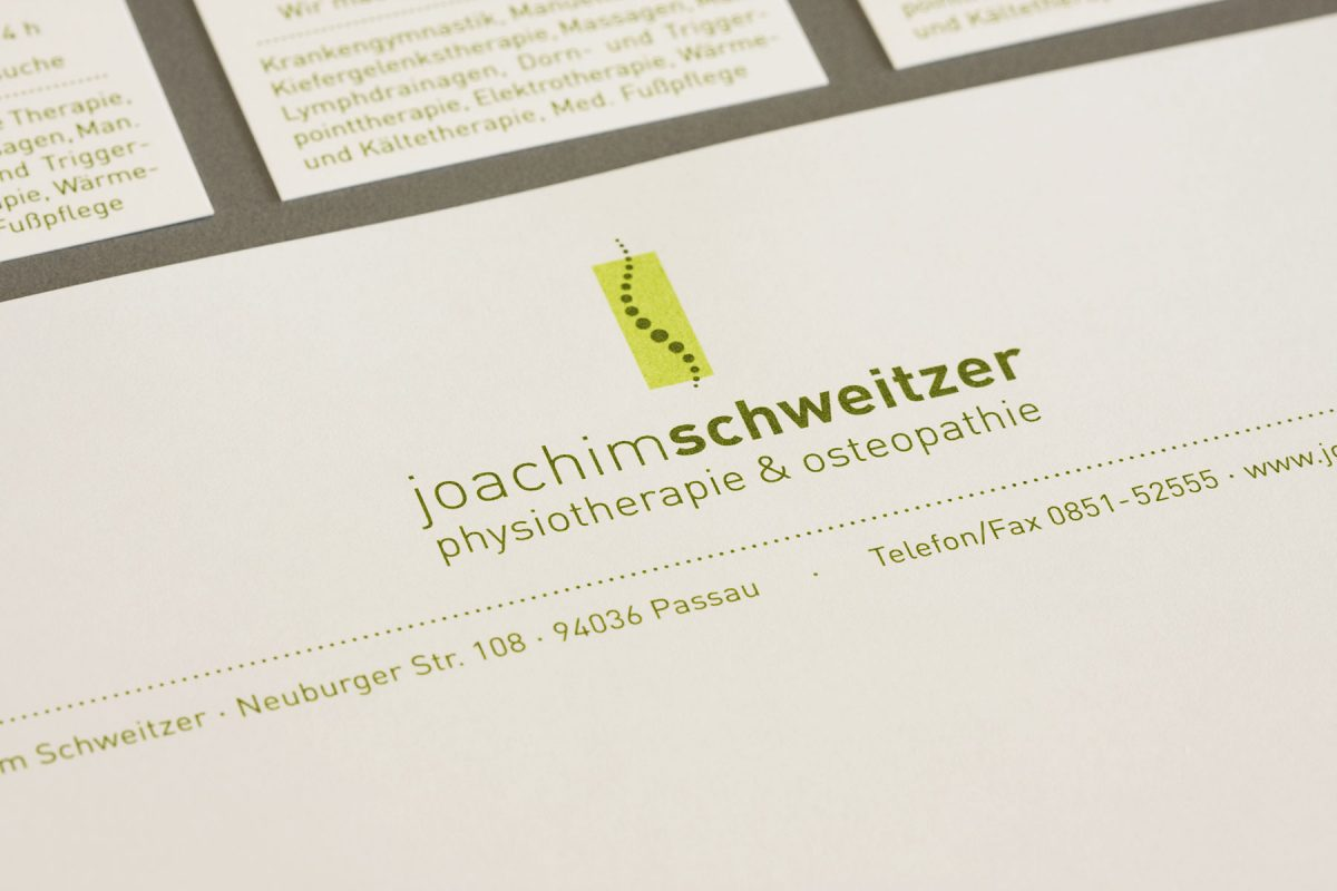 Corporate Design | Joachim Schweitzer Passau