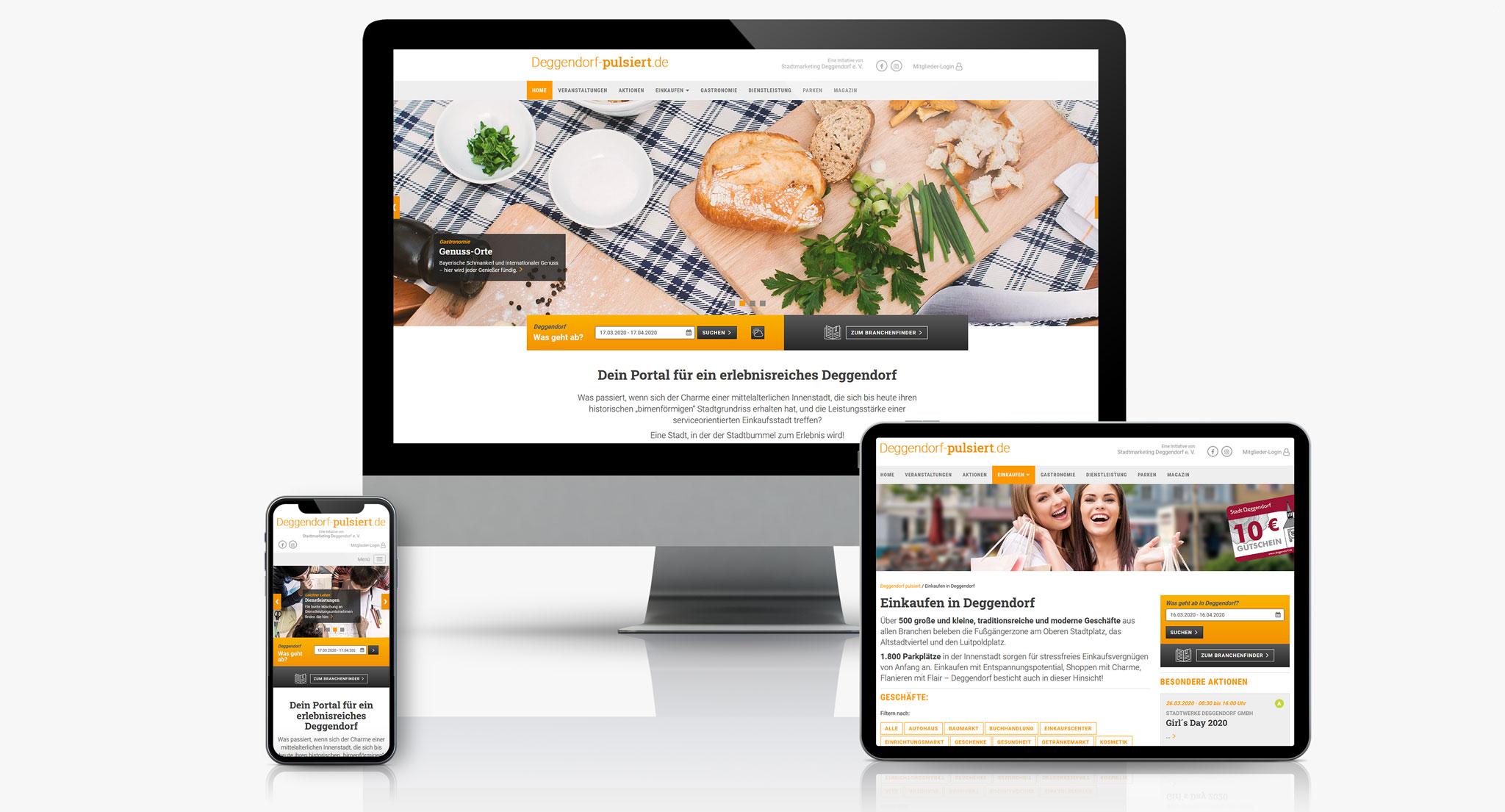 Deggendorf pulsiert Website | Werbeagentur Roland C. Ritter