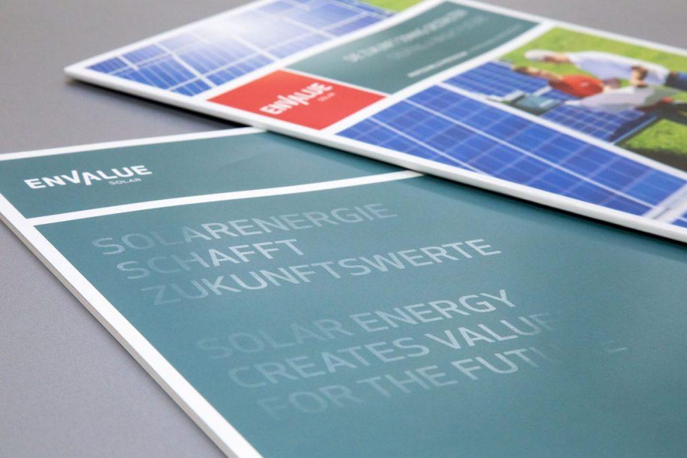 Envalue| Leistung Printdesign und Text