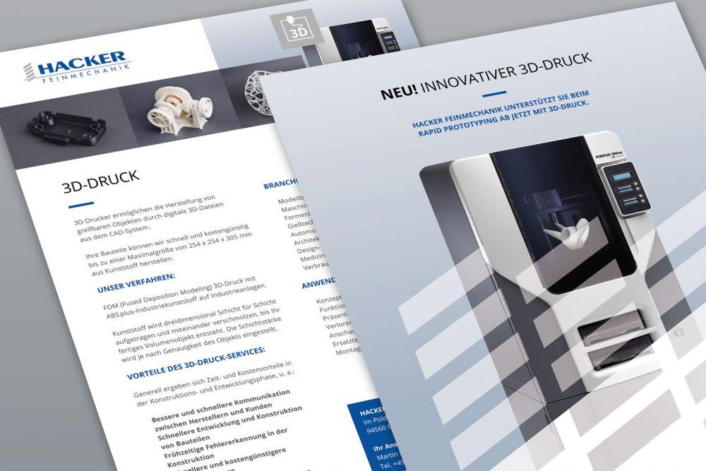 Hacker Feinmechanik | Leistung Flyer