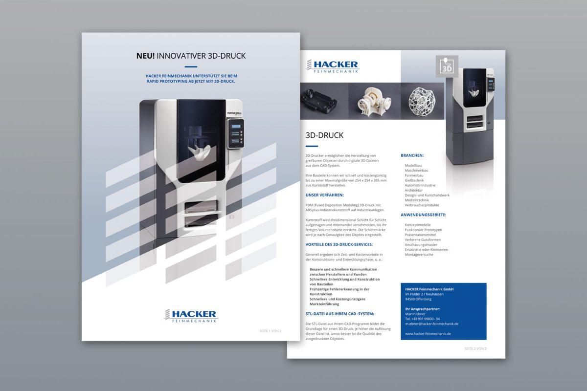 Hacker Flyer | Werbeagentur Roland C. Ritter