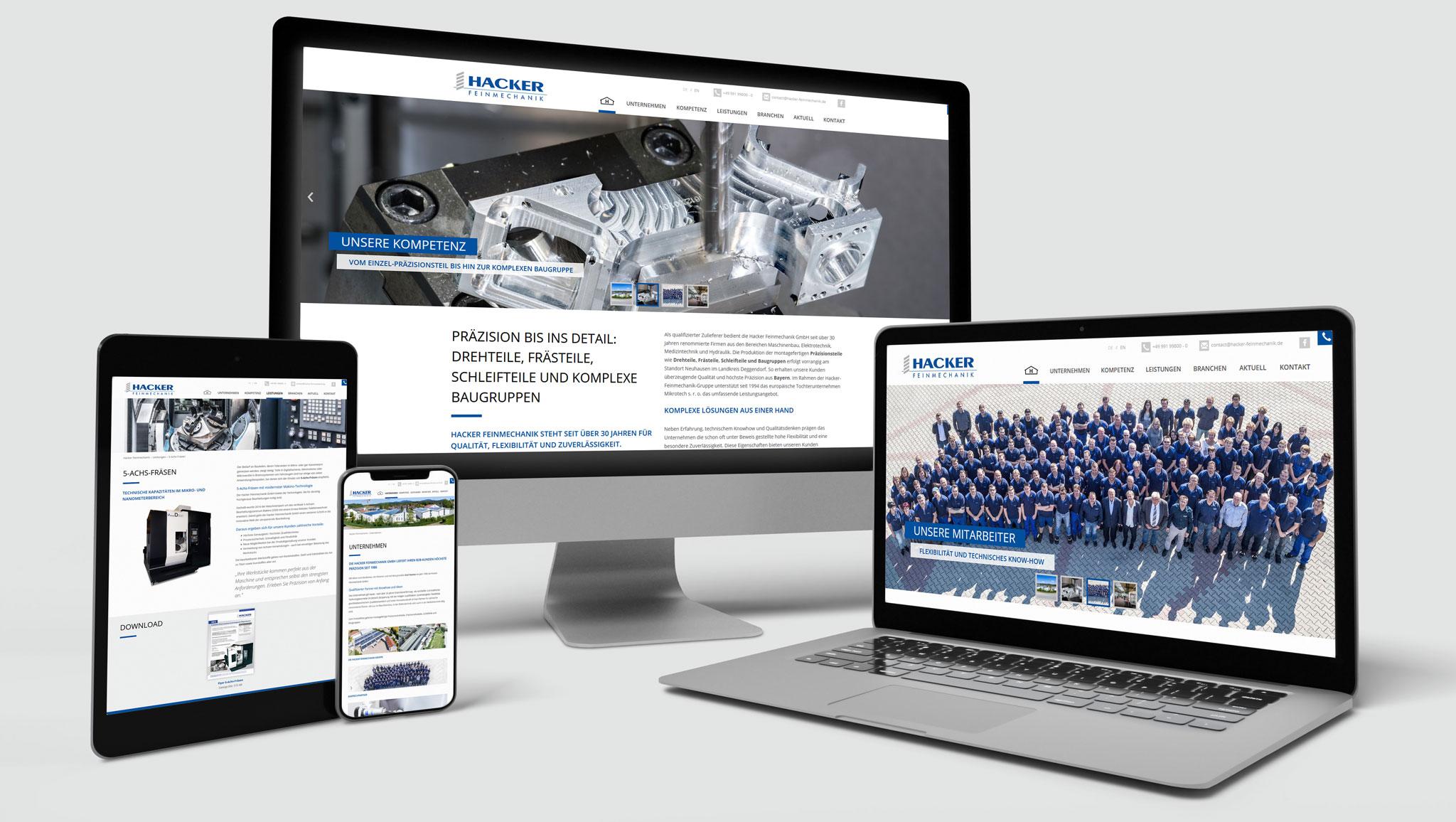 Hacker Feinmechanik Website | Werbeagentur Roland C. Ritter
