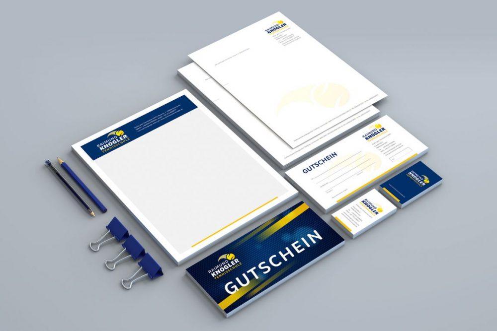 Tennisschule Knogler | Leistung Corporate Design