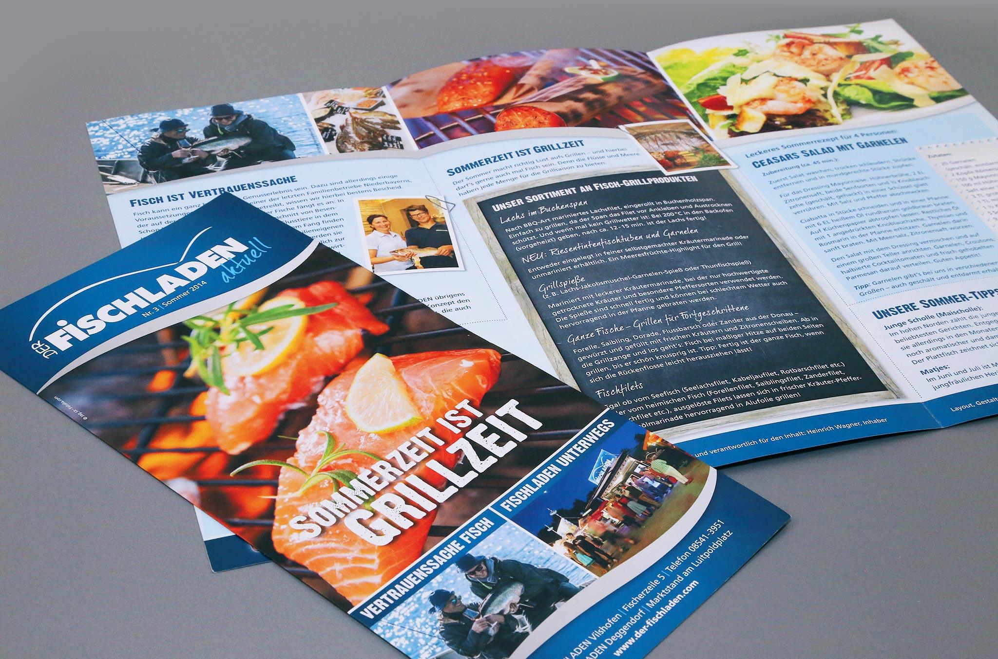 Kundenzeitung Der Fischladen aktuell | Agentur Ritter