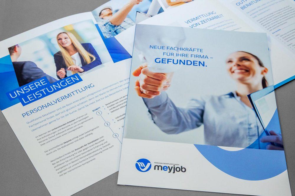MeyJob Broschüre | Agentur Ritter