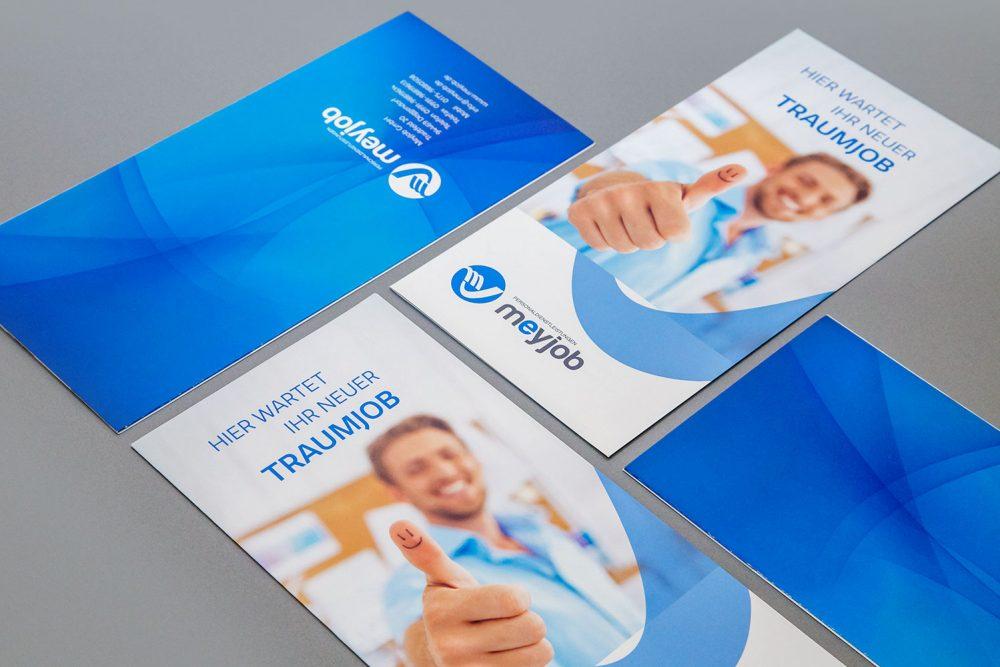 MeyJob GmbH Flyer | Designagentur Roland C. Ritter