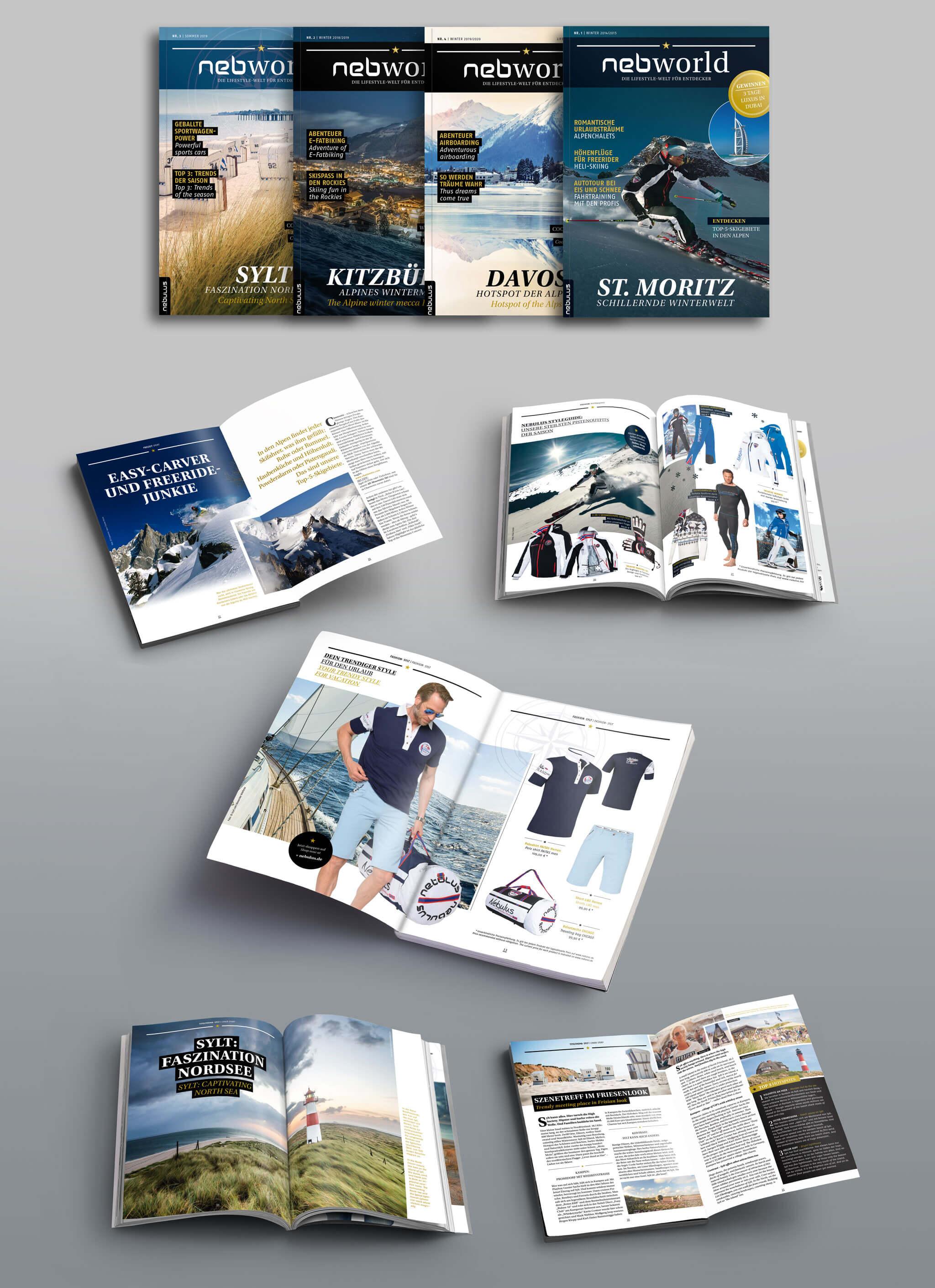 Nebulus Kundenmagazin nebworld | Agentur Ritter