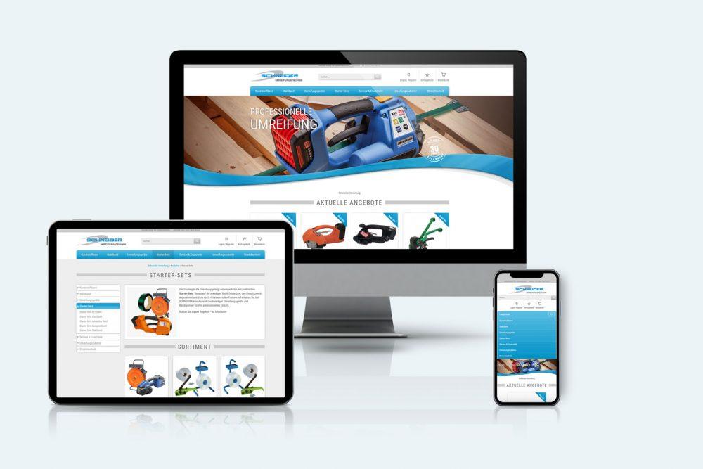 Schneider | Leistung Webshop und Website