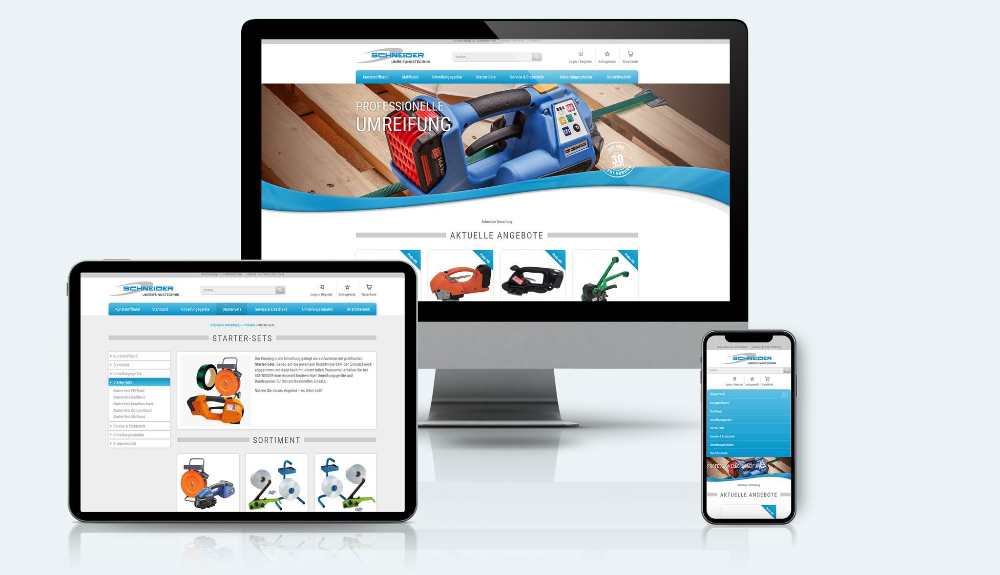 Schneider Umreifungstechnik Website | Werbeagentur Roland C. Ritter