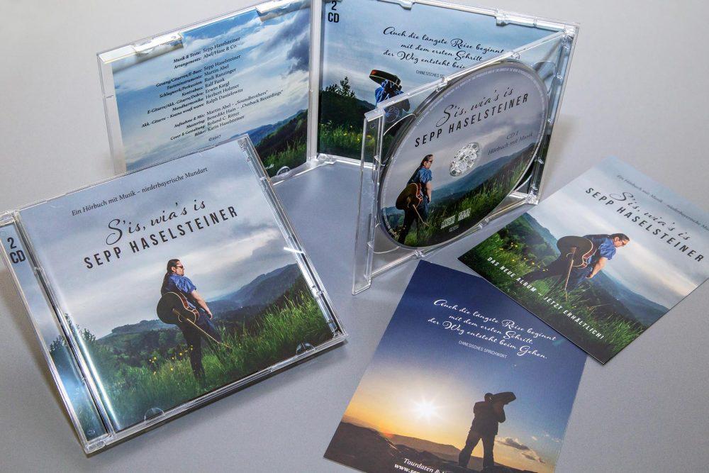 Sepp Haselsteiner | Auftritt, CD-Design und Flyer