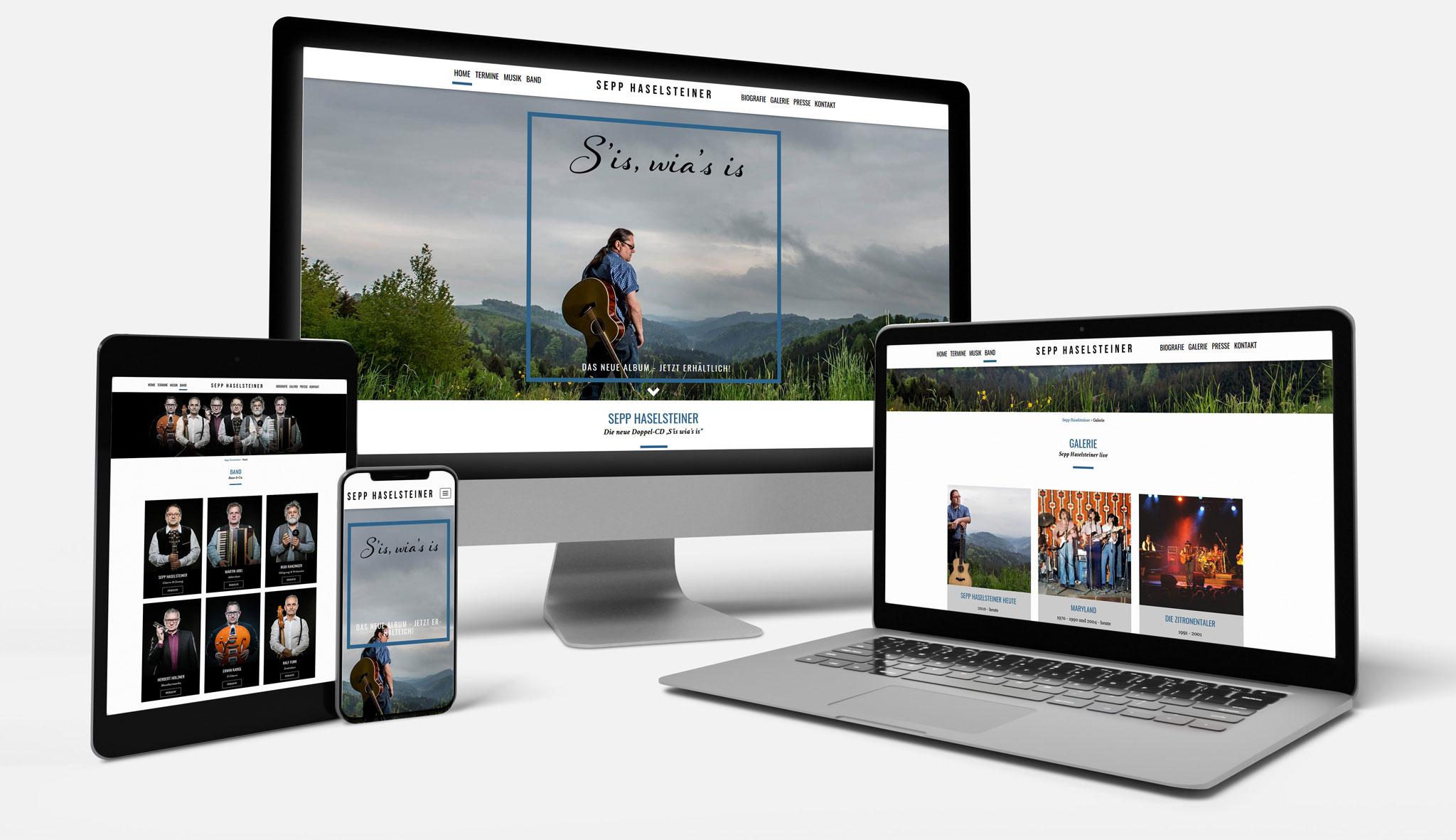 Sepp Haselsteiner Website | Werbeagentur Roland C. Ritter