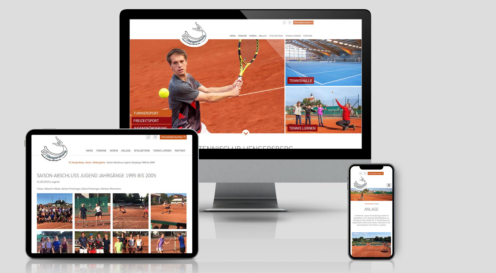 TC Hengersberg Website | Werbeagentur Roland C. Ritter