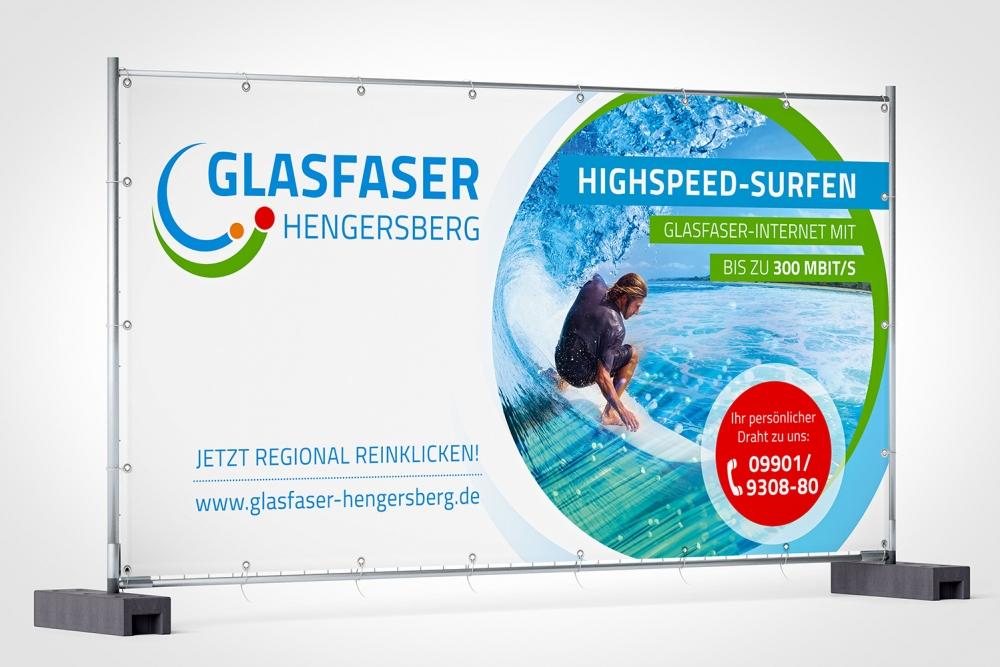 Glasfaser Hengersberg Außenwerbung | Agentur Ritter