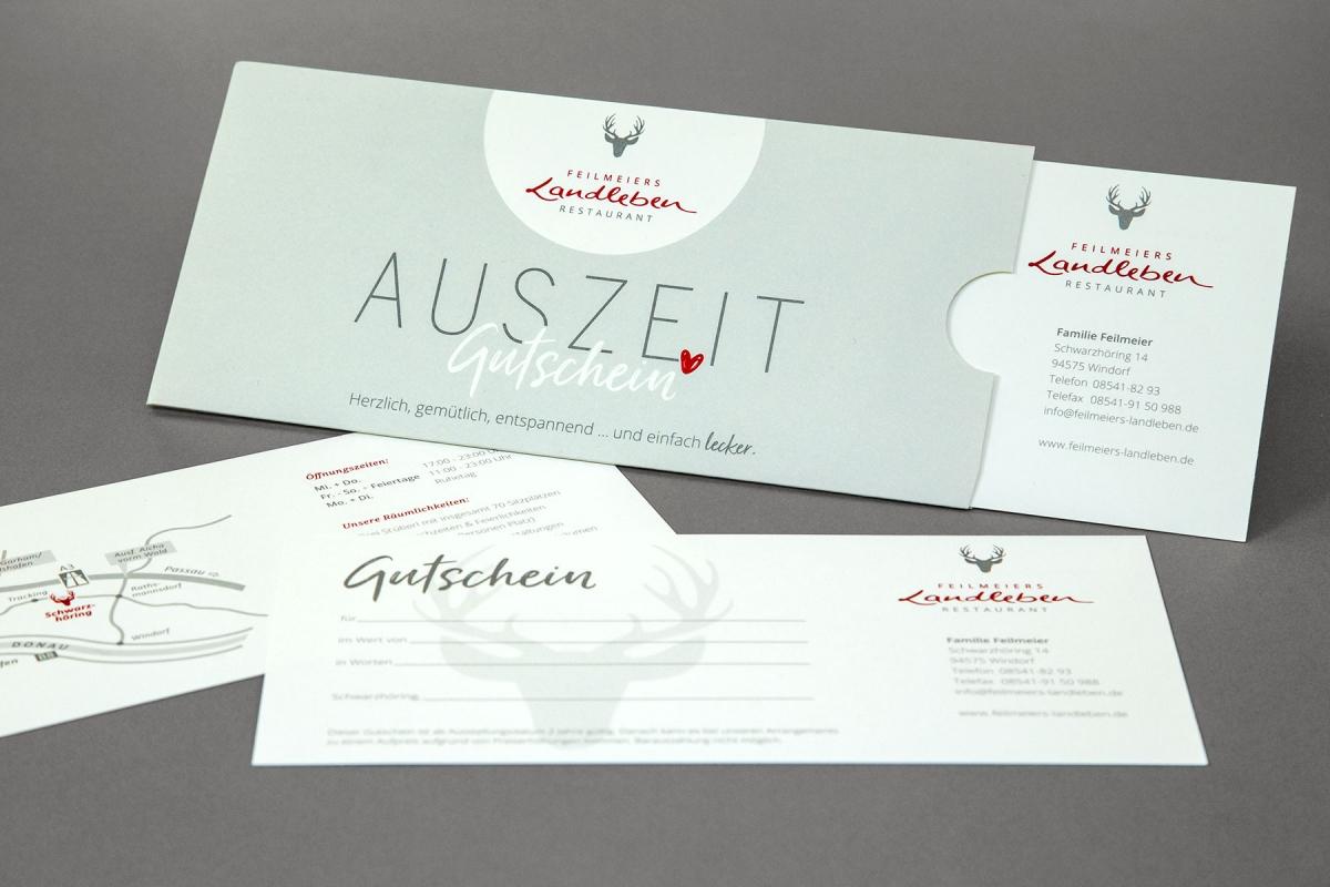 Gutschein Restaurant Feilmeiers Landleben | Agentur Ritter
