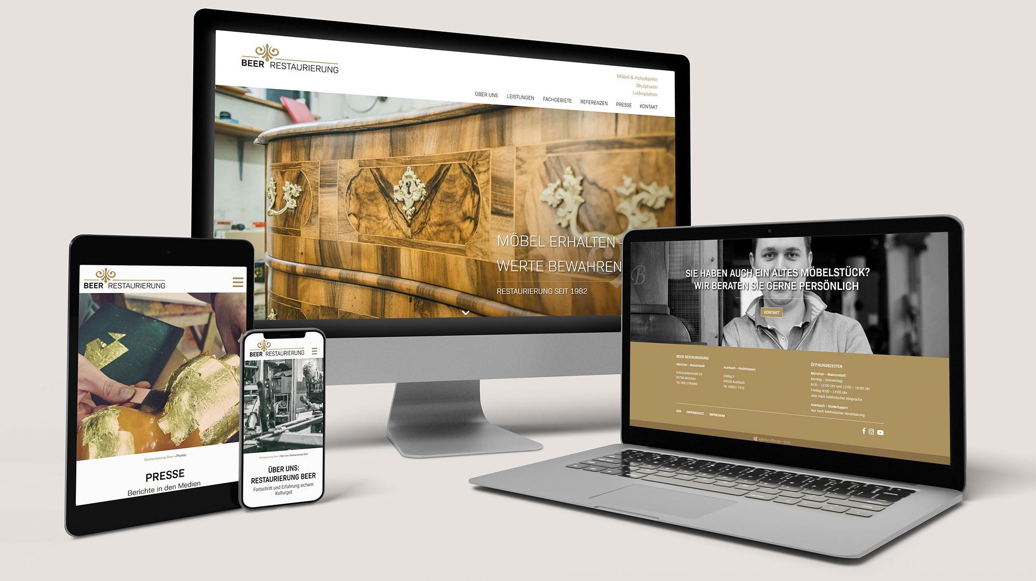 Beer Restaurierung | Website-Erstellung
